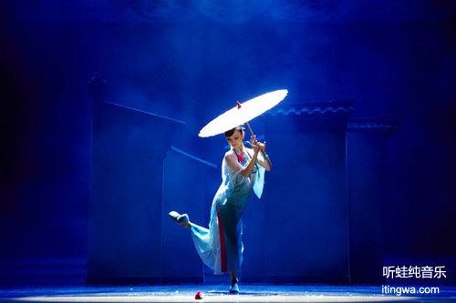 舞蹈背景图素材 淡雅