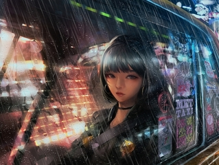 雨空,长街与夜灯